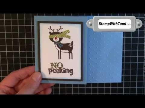 No Peeking - Rudolph Gift Card Holder