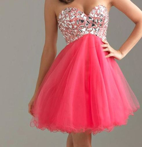 Cute sparkly hot pink dress  Pink Fashion Galore!!!  Pinterest ...
