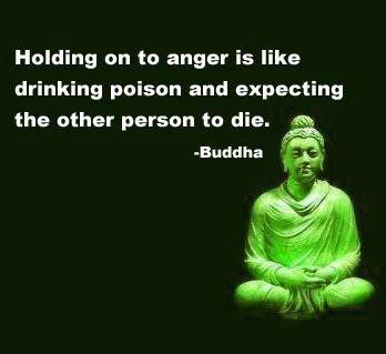 Holding onto anger. ..