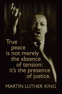 Postcard - MLK On Justice | Syracuse Cultural Workers