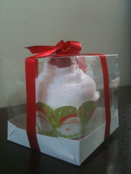 Cupcake de Toalha - Especial Natal