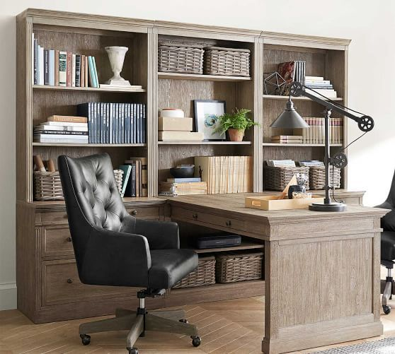 Livingston Peninsula Desk With 105 Bookcase Suite Cheap Office