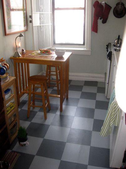 Painting a linoleum floor grandmothers idea paint and for Good linoleum flooring