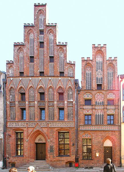 "Birthplace of Copernicus, Toruń, Poland (building on the left).  Along with the building next to it, it forms the Muzeum Mikołaja Kopernika. (Image: Stephen McCluskey) Mona Evans, ""Copernicus - His Life"" http://www.bellaonline.com/articles/art40794.asp"