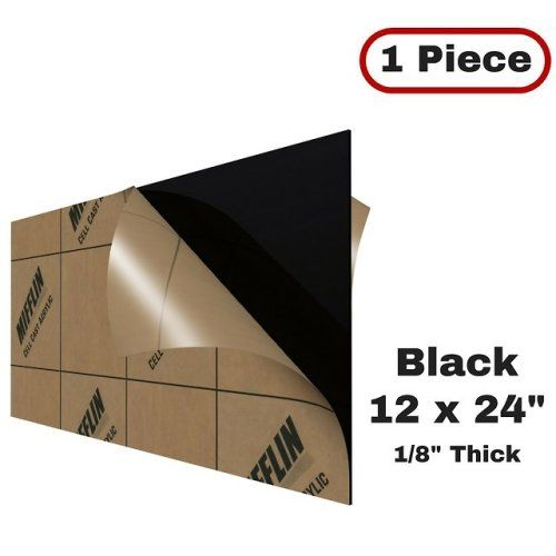 Mifflin Cast Plexiglass Sheet Opaque Black 1 Piece 12x24 Plexiglass Sheets Clear Plastic Sheets Plastic Sheets