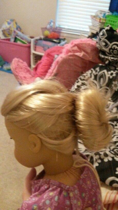 Messy Braid into a Bun  AG Doll