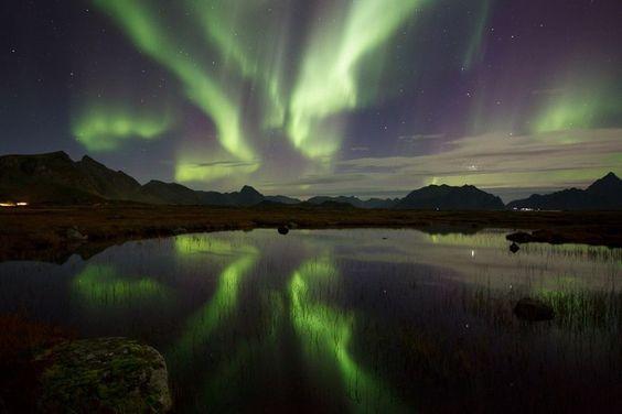 Noorderlicht op de Lofoten, foto Eric Fokke