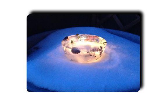 Die schönen Seiten des Winters – oder – Wie ein Eislicht entsteht | Lilamalerie