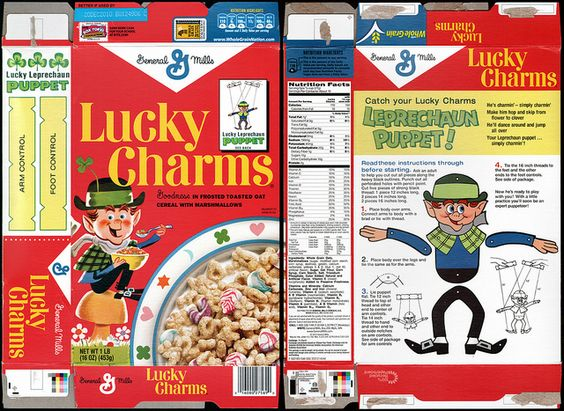 General mills cereal boxes | General Mills - Lucky Charms - Target store exclusive retro cereal box ...