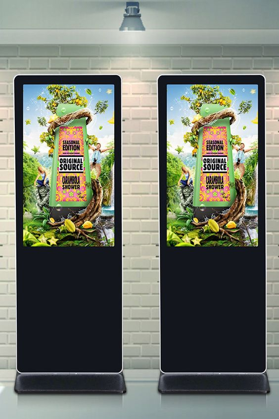 55 Inch Indoor Floor Standing Touch Screen Lcd Advertising Digital