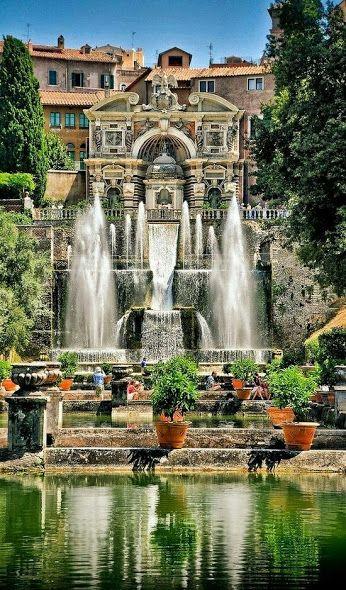 Villa d'Este, una villa en Tivoli, cerca de Roma, Italia. Este hermoso edificio como patrimonio de la humanidad, se ha registrado este es un buen ejemplo de la arquitectura renacentista y jardines renacimiento Italia ....