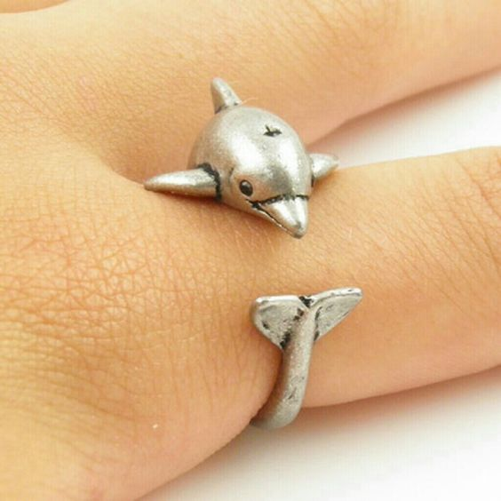 Adjustable size alloy dolphin ring Adjustable size alloy dolphin ring Jewelry Rings
