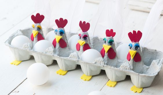 Egg cartons chicken eggs and plastic eggs on pinterest for Plastic egg carton crafts