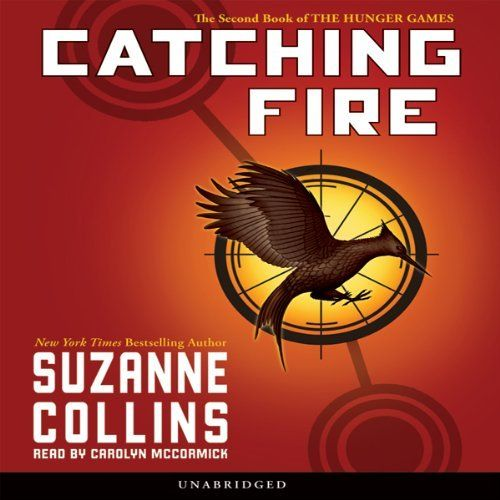 """Catching Fire: Hunger Games, Book 2 by Suzanne Collins (11h41m) #Audible #FirstLine: """"I clasp the flask between my hands even though the warmth from the tea has long since leached into the frozen air."""""""