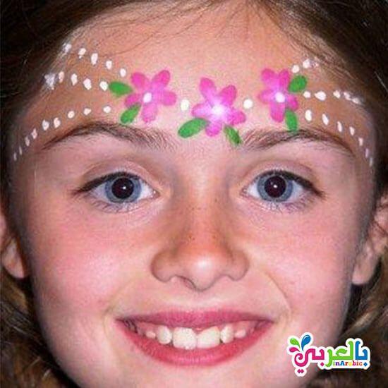 رسومات على وجوه الاطفال سهلة للبنات افكار حفلات للاطفال بالعربي نتعلم Princess Face Painting Face Painting Designs Girl Face Painting