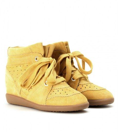 isabelmarant  sneakers  mustard http://isabelmarantdesignersneakers.com/