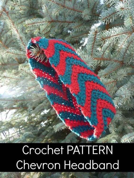 Crochet PATTERN Chevron Headband Ear Warmer - PDF - Instant Download ...