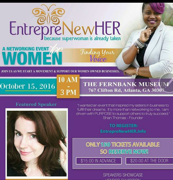 Great Event this weekend in ATL hosted by Radio guest Shan Thomas founder of entrepreNEWher
