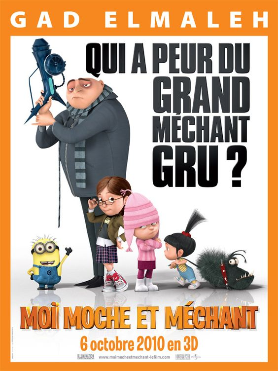 Moi, Moche et Méchant de Chris Renaud et Pierre Coffin, 2010