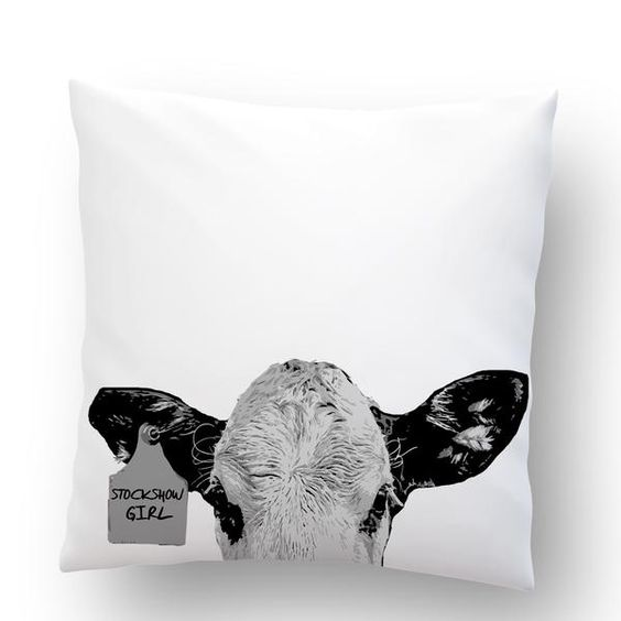 Stockshow Girl Throw Pillow