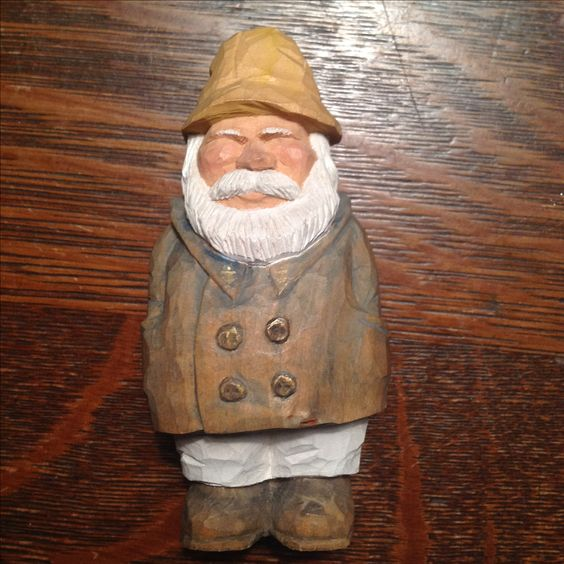 Caricature carving sea captain basswood wood