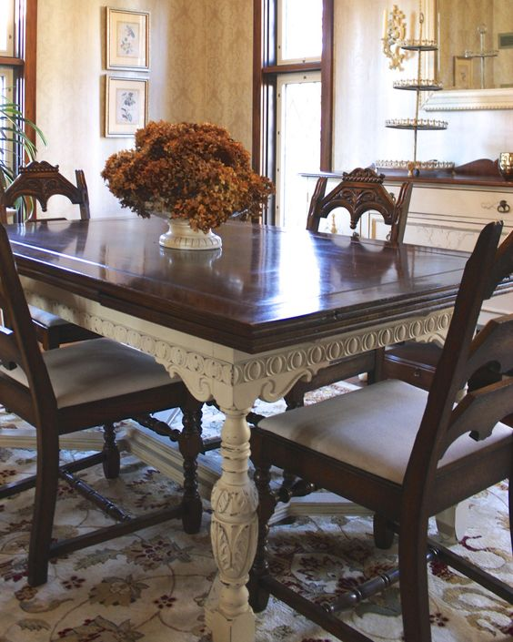 Mesas de comedor, comedores and muebles pintados on pinterest