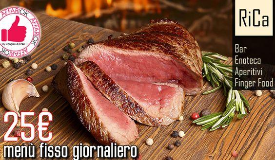 Menù Alla Carte E Menù Fisso Giornaliero Da RiCa Wine Bar http://affariok.blogspot.it/