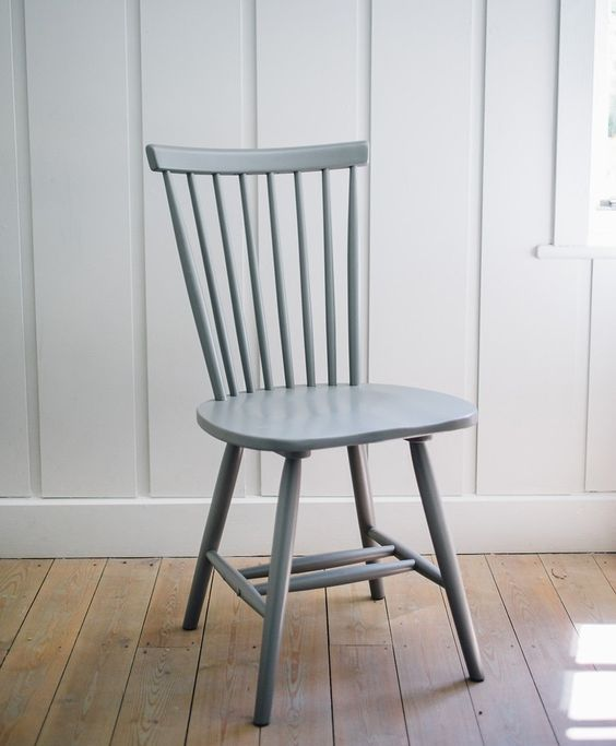 Noah | Grey painted dining chair | The Olive Tree Shop