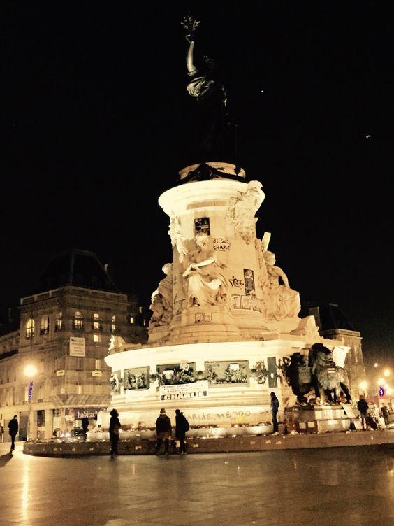 Je suis Charlie - Place de la Republique, Paris