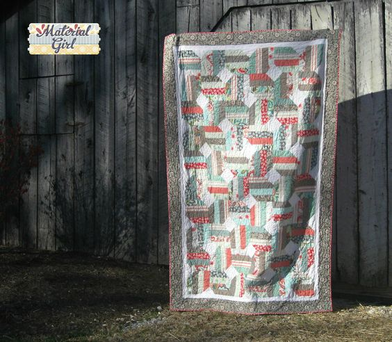 Verona Jelly Bean quilt - Material Girl Quilts - made using fat quarters