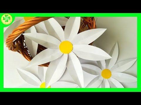 Jak Zrobic Papierowe Stokrotki How To Make A Paper Daisy Youtube