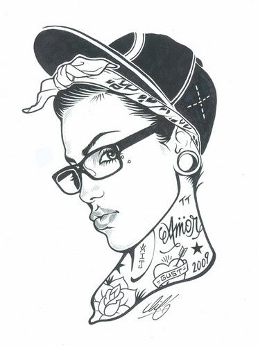 Pin by Camila Yañez on dibujos | Pinterest | Hipster girl drawing ...