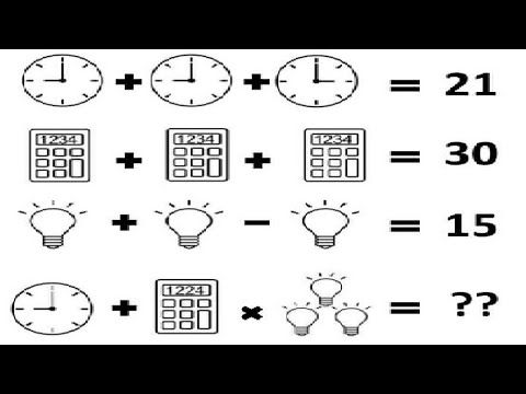 Calculator Clock And Bulb Puzzle Viral Maths Maths Puzzles Math Math Riddles Puzzle time worksheet answers