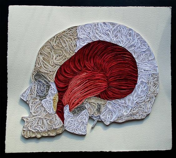 Quilled paper anatomy offers a different look at human body - Holy Kaw!