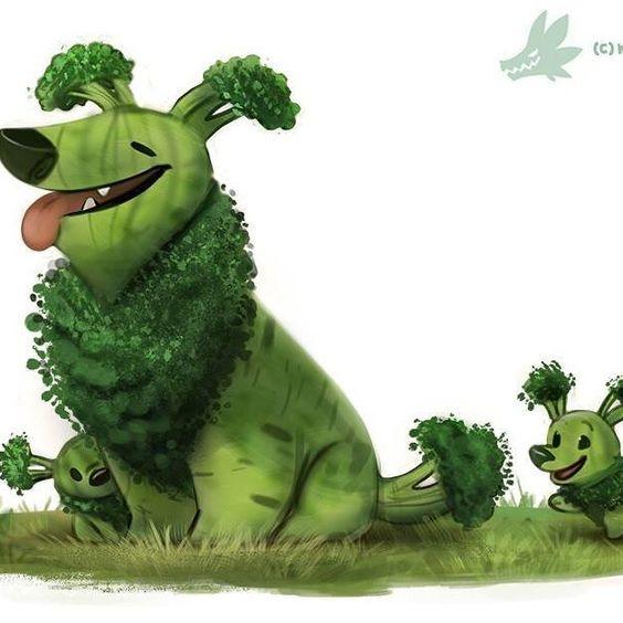 Daily Paint 1234. Broccollie  #dog #cute #art #artist