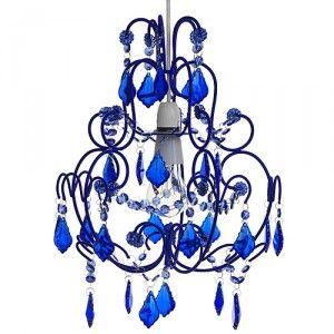 Blue Cut Glass Chandelier from Flounce Flock