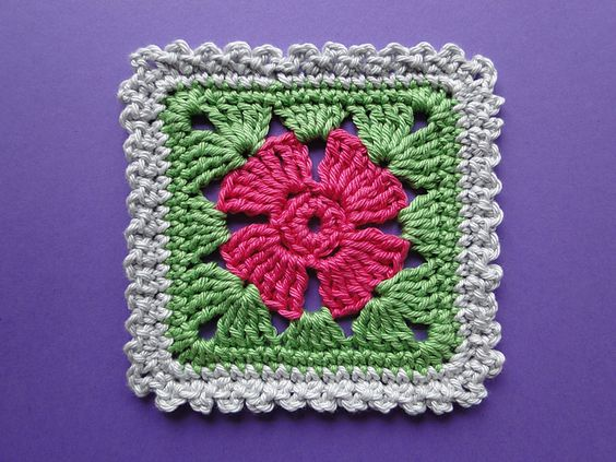 Squares, Crochet leaves and Free pattern on Pinterest