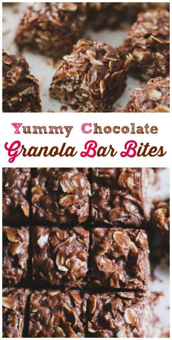 Yummy Chocolate Oat Bar Bites - Healthy & No Bake too