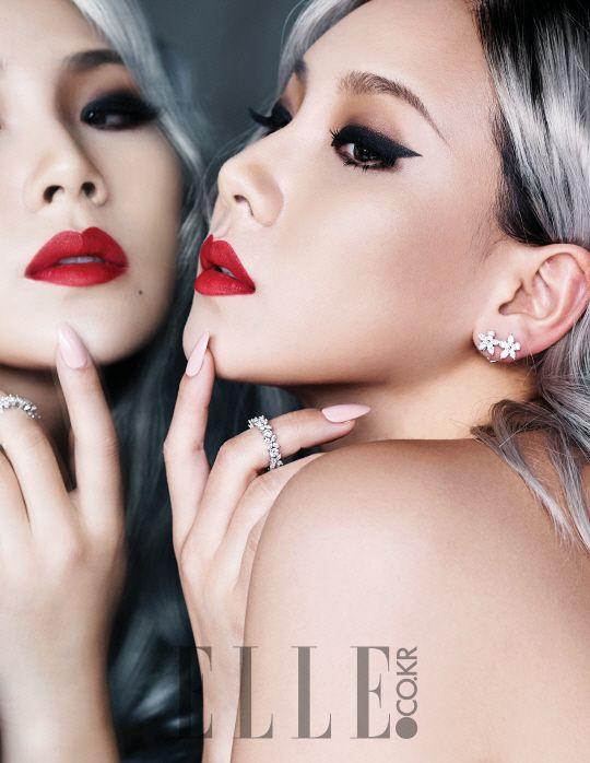 """CL (2NE1) pose pour le magazine """"Elle"""""""