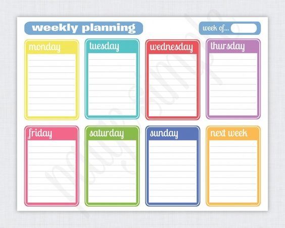 Getting Organized One Day Week Month At A Time + FREE Printable - free printable weekly calendar
