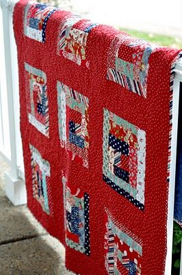 PLEASANT HOME: Quilt No. 1, s sew as you go strip quilt for son #1 and his wife.: