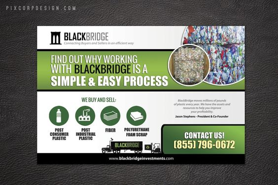 Create an eye catching ad for forward thinking recycling company, BlackBridge Investments by Vania22