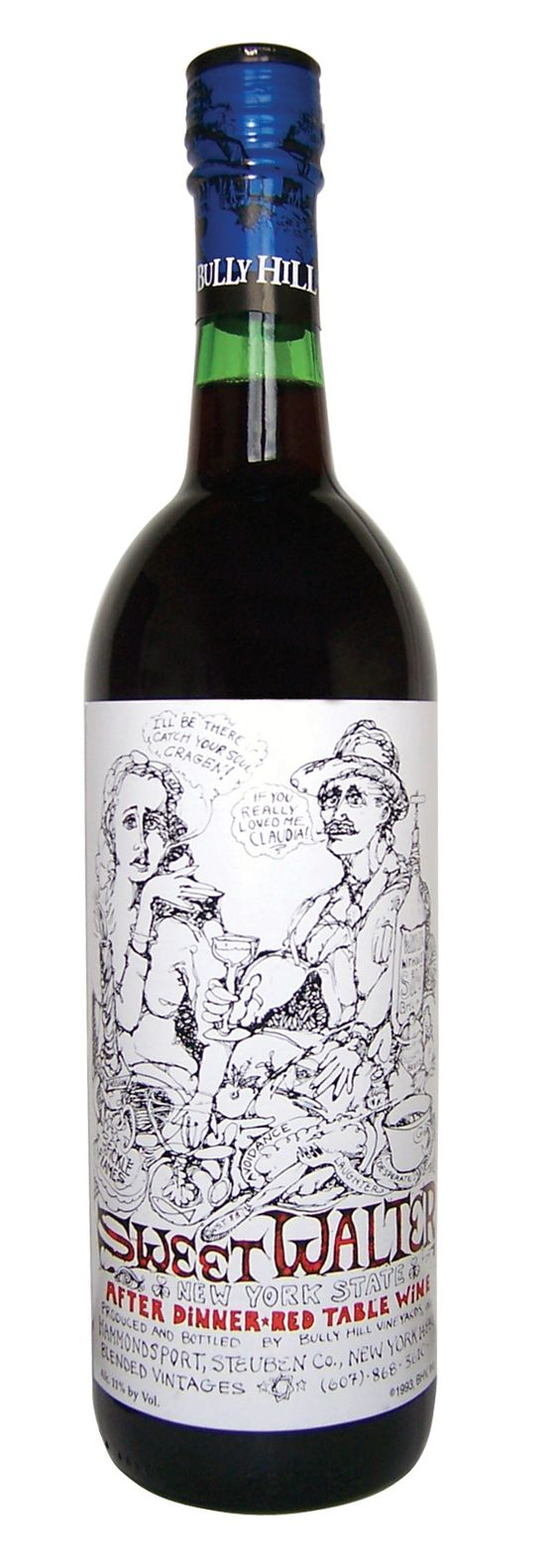 bully hill wine sweet walter red this grapey red wine is rich and smooth authentic oak red wine