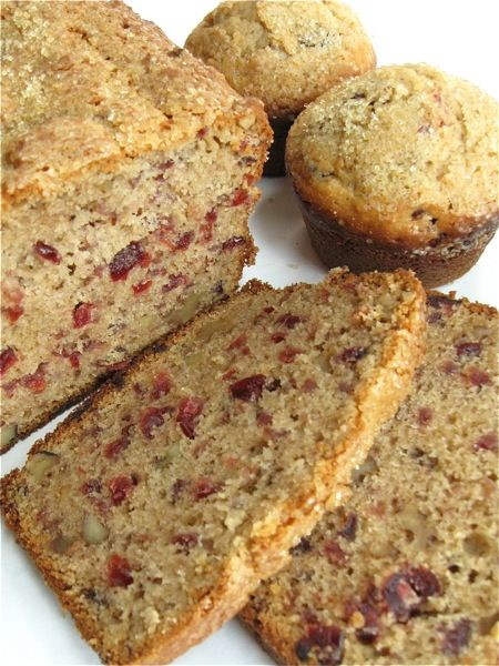 Cranberry walnut bread and muffins | Thanksgiving, Holiday recipes and ...
