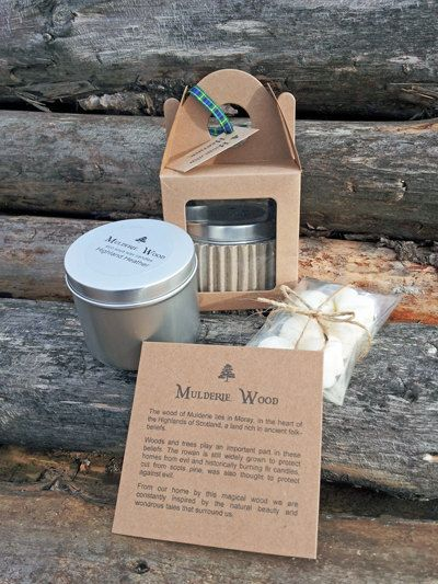 100% Pure Soy Wax Scented Large Tin Candle  Wax by MulderieWood