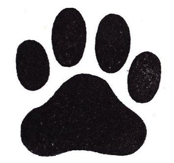"Amazon.com: Dog Rubber Stamp - Paw Print Large-358F (Size: 1-7/8"" Wide X 1-3/4"" Tall): Arts, Crafts & Sewing"