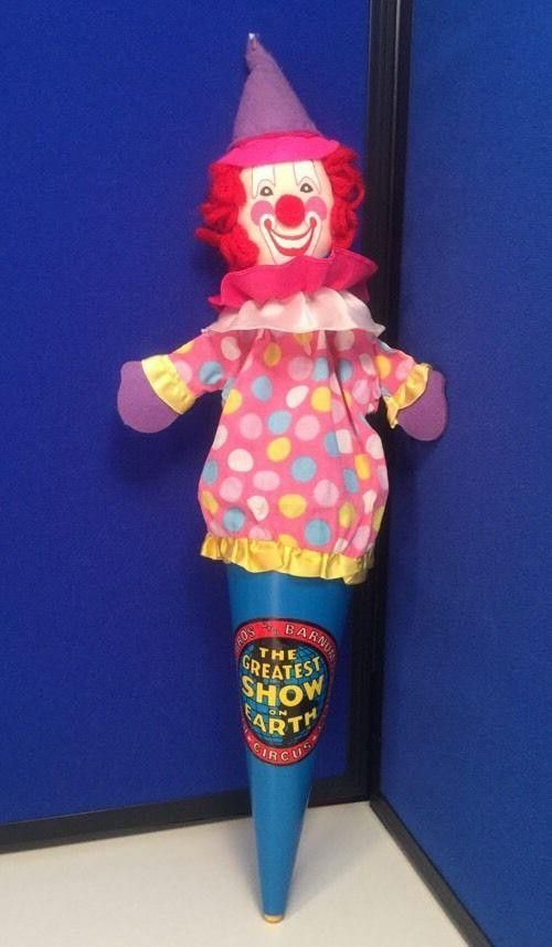This Listing Is For One Ringling Brothers Barnum And Bailey Circus Clown Puppet Souvenir The Clown Can Hide In The Cone T Barnum Puppets Barnum Bailey Circus