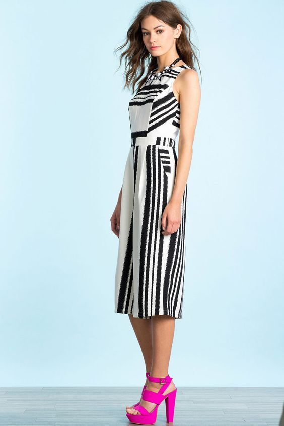 Abstract Culotte Jumpsuit