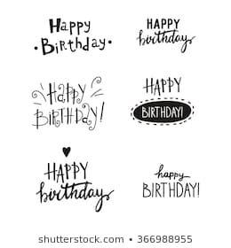 Happy Birthday Text Images Stock Photos Vectors Shuttersto Ecriture Joyeux Anniversaire Calligraphie De Joyeux Anniversaire Texte De Joyeux Anniversaire
