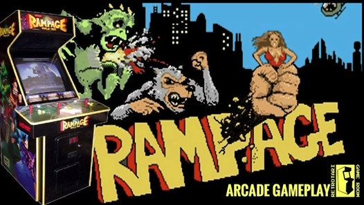 Rampage Is A 1986 Arcade Game By Bally Midway Players Take